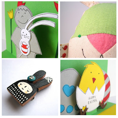 relydesign, card, easter, bunny, chick, contemori, rabbit, soft toy, PinkrainDoodles, bunny