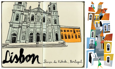 spain, illustrator, travel