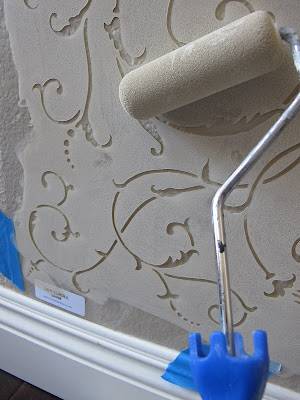 easy way to stencil a wall. Black Bedroom Furniture Sets. Home Design Ideas