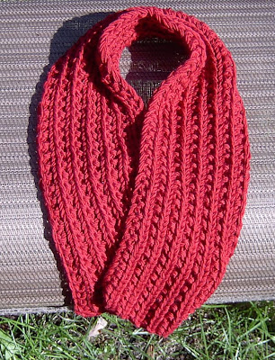 Otterwise Easiest Farrow Rib Scarf Free Knitting Pattern