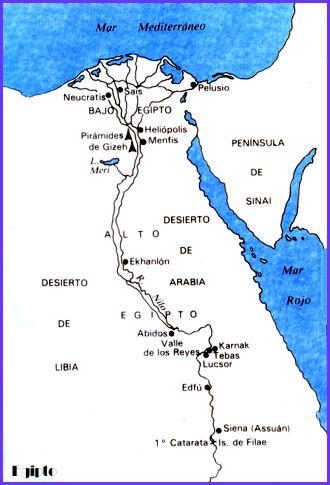Los secretos de Nefertiti Mapa de Egipto