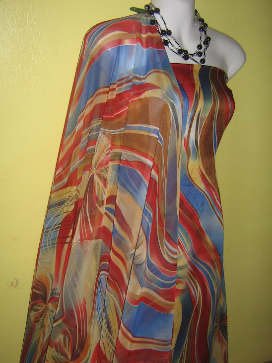 CMC 1020A: CHIFFON MATCHING, 2M+2M, BHG BAJU BERMANIK, JARANG DAN PERLU LINING