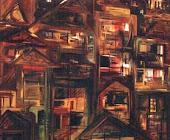 Das Janelas e Parabólicas - Série/Pinturas: Paisagem Urbana