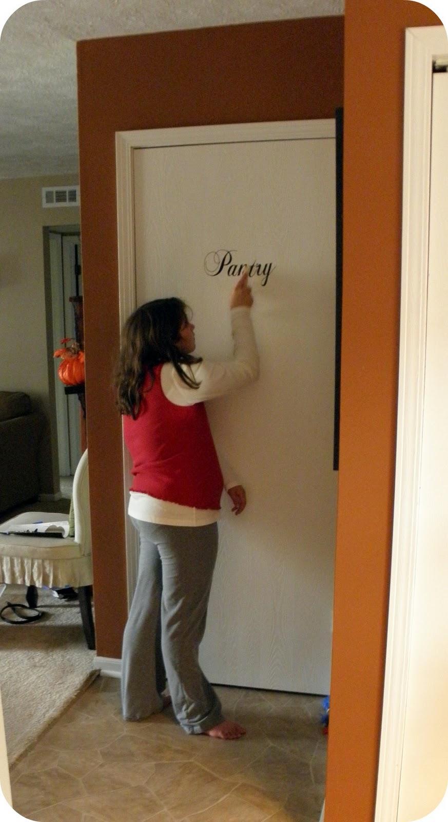 A Fancy Pantry Door Since The Inside Isnt