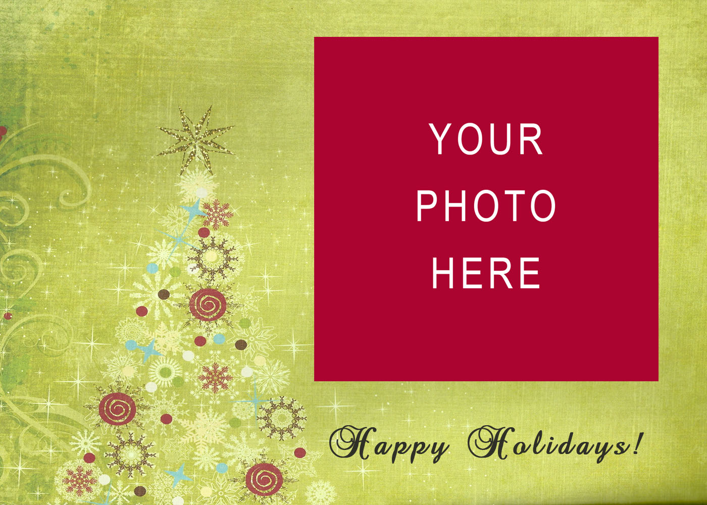 Christmas Card Templates Free - Christmas greeting card template