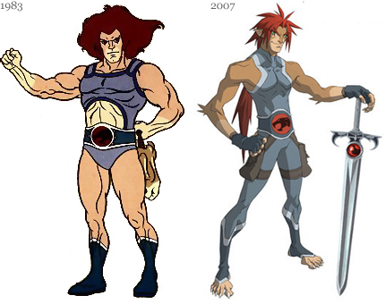 Thundercats Anime 2011 on J   Em 2007  O Tra  O Do Personagem Pendia Para O Novo Anime