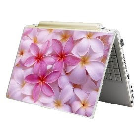 Pink Skin Sticker Laptop Notebook Plumeria