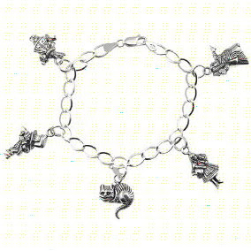 Alice in Wonderland Beautiful Charm Bracelet Jewelry