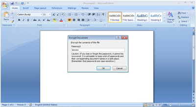 Protect Your Microsoft Word Document with Password