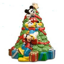 Disney Mickey Mouse and Friends Christmas Tree Cookie Jar