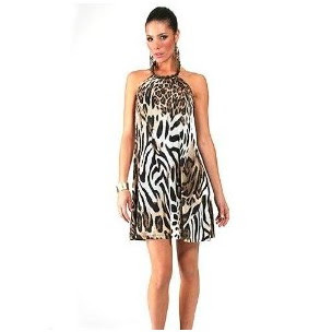 Tips to wear animal print dress-HALTER MINI DRESS