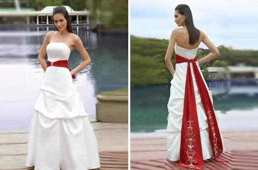 Strapless Beaded Wedding Dress