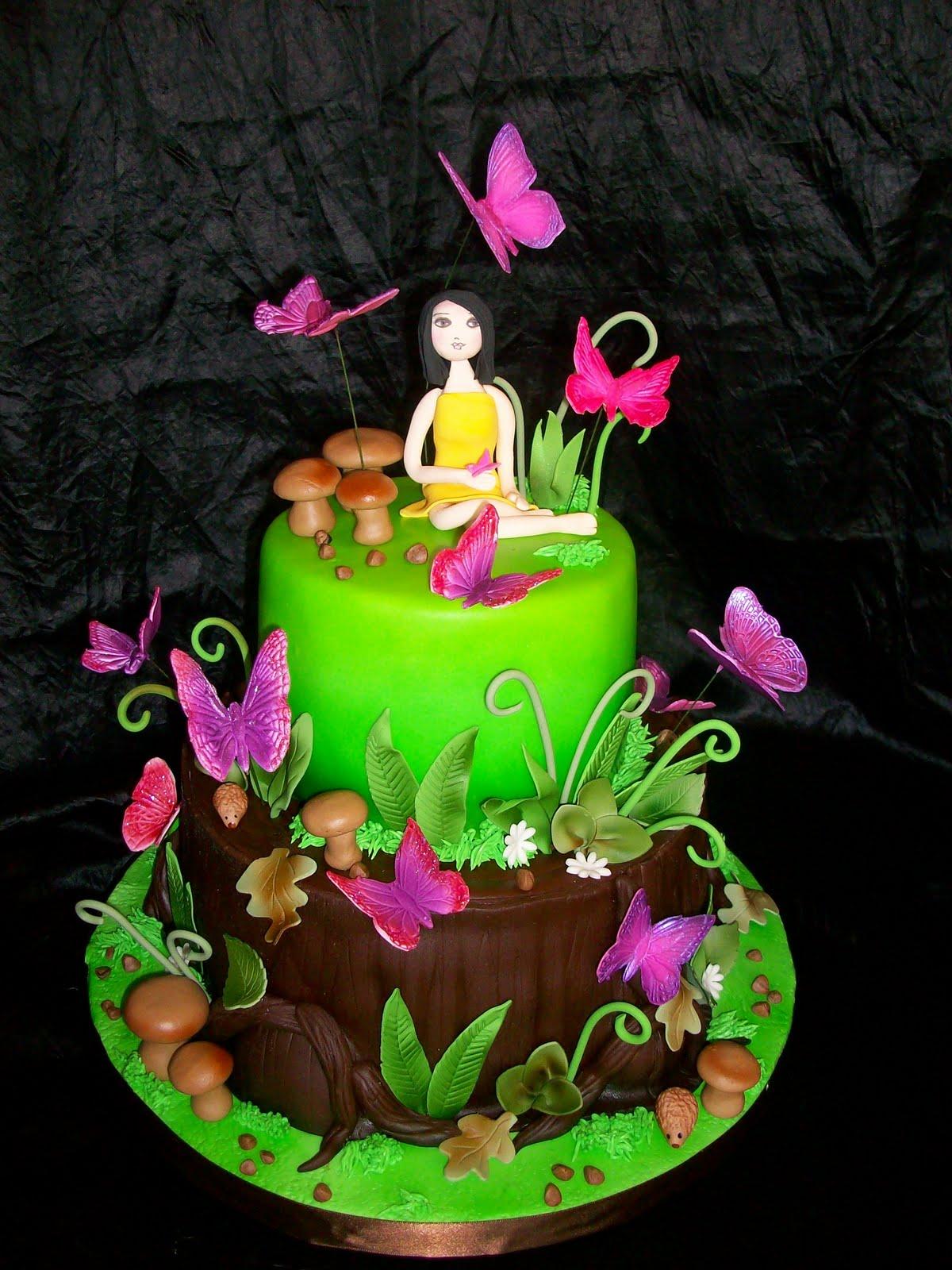 Laurens Butterfly Garden Birthday Cake