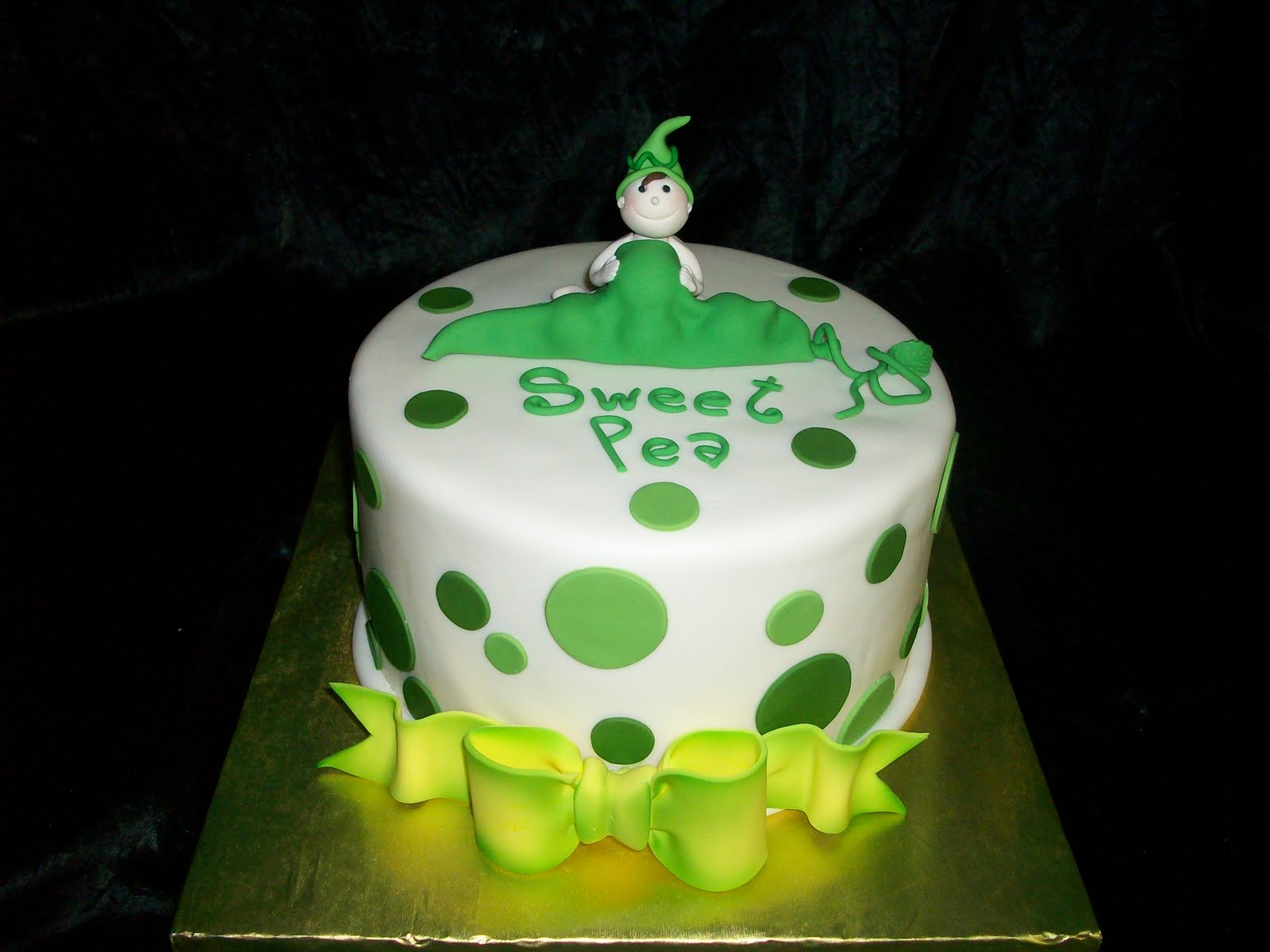 On Birthday Cakes Pea In A Pod Baby Shower Cake