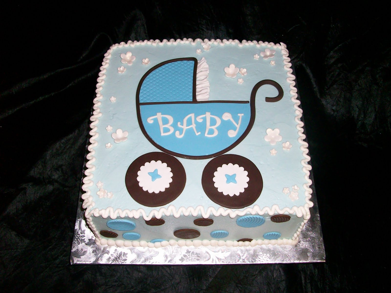 Baby shower cakes for Baby boy cake decoration