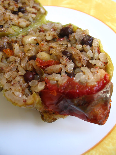 Almost Turkish Recipes: Vegetarian Stuffed Peppers (Zeytinyağlı ...