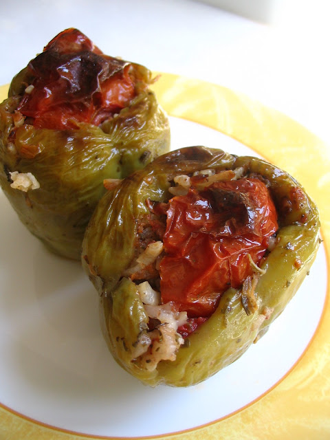 Another great traditional olive oil dish recipe Vegetarian Stuffed Peppers (Zeytinyağlı Biber Dolma)