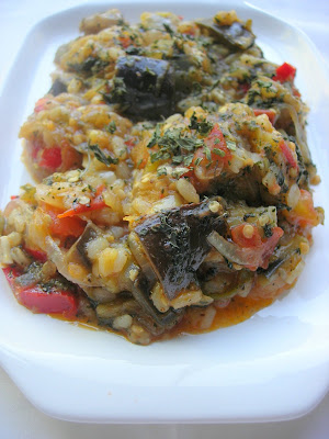because eggplants and zucchinis are the main things we Eggplant Stew with Rice (Patlıcanlı Cive)