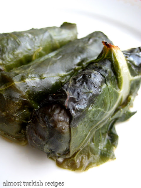 Stuffed Chard With Bulgur And Cheese / Lorlu Pazı Sarma
