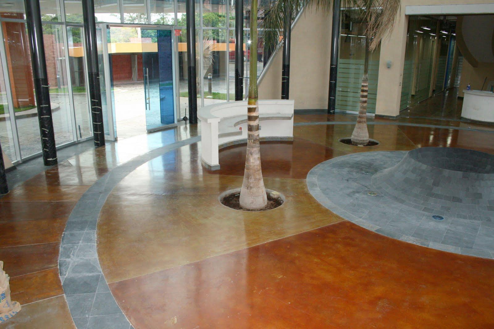 Cemento pulido blanco top suelos de cemento pulido with - Pintura para pintar piso de cemento ...