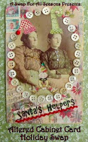 Altered Cabinet Card Holiday Swap