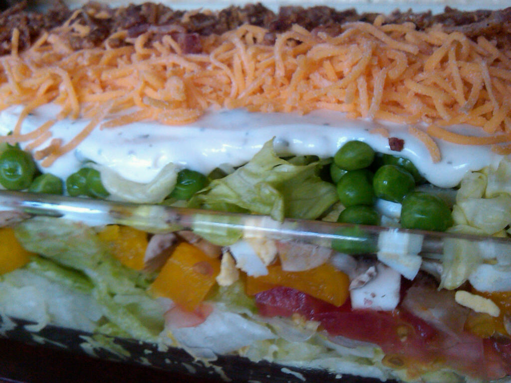 ... Elevating the Everyday: 10-Layer Salad with Buttermilk Ranch Dressing