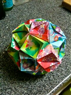 the origami hen very first kusudama