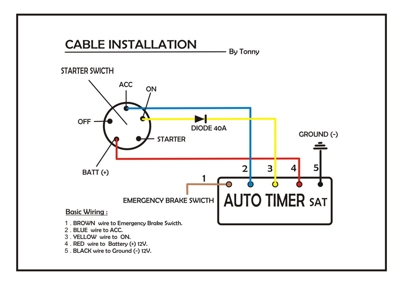 Turbo Timer Wiring Diagram : Blitz fatt turbo timer wiring diagram electrical