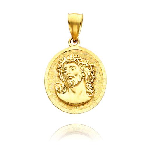 Gold Jesus Medal