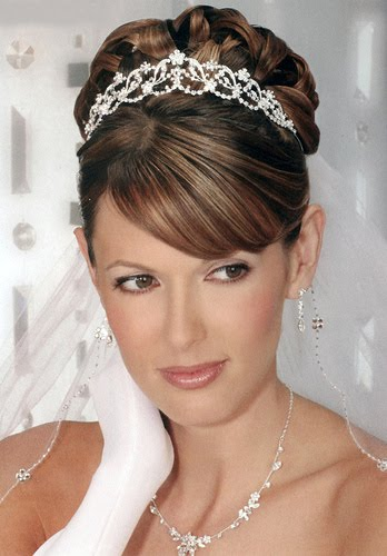 long short hairstyles: bridal short hair style By Me