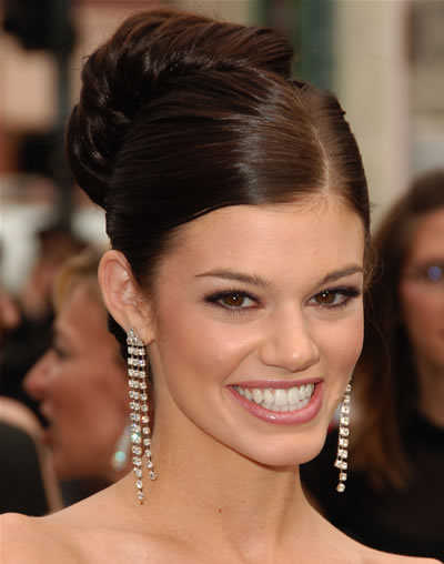 The updo hairstyles can be done with flowers and hair accessories to make