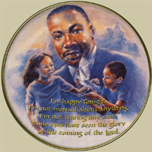 MLK commemorative plate, created 1988 (posted 4/4/008)