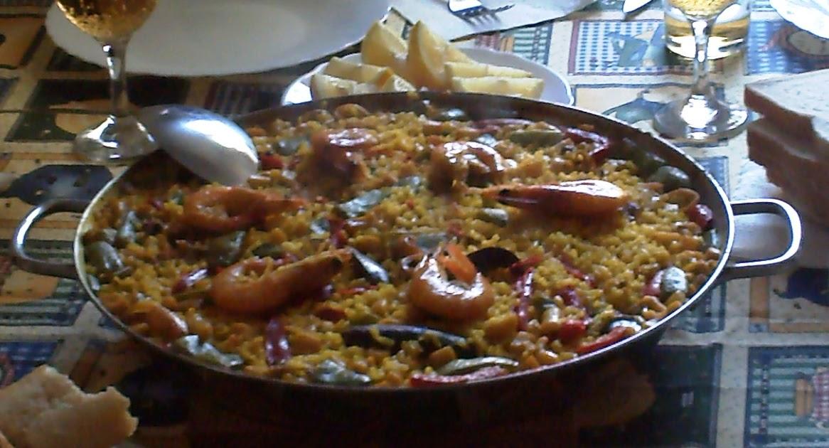 Comida peruana e internacional receta de paella de mariscos - Como cocinar paella ...