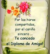 Gracias por este diploma Rosario Y gracias por  tu Amistad...