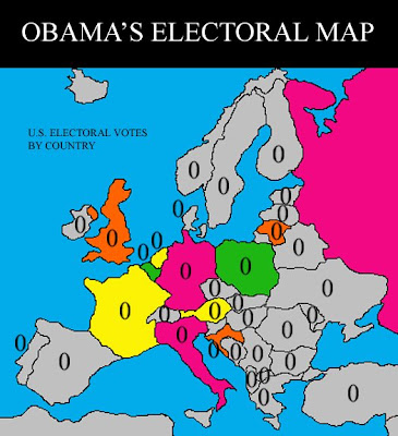Europe S Electoral Map For Us 2008 Election By Michael Asher