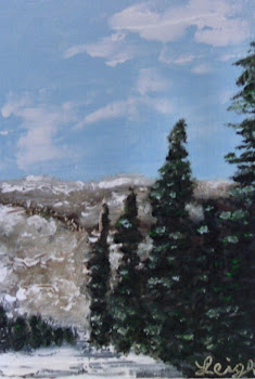 """Christmas in Colorado"" - Oil on Wood"