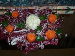 rose di carote e mozzarella