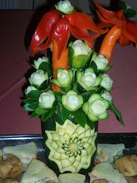bouquet di zucchine ...su zucca