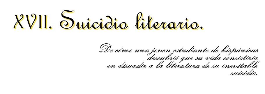 Suicidio literario.