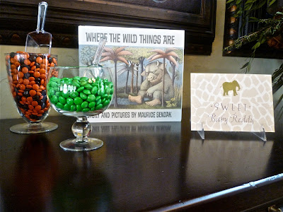 This is a great example of how a small and simple candy table can still make