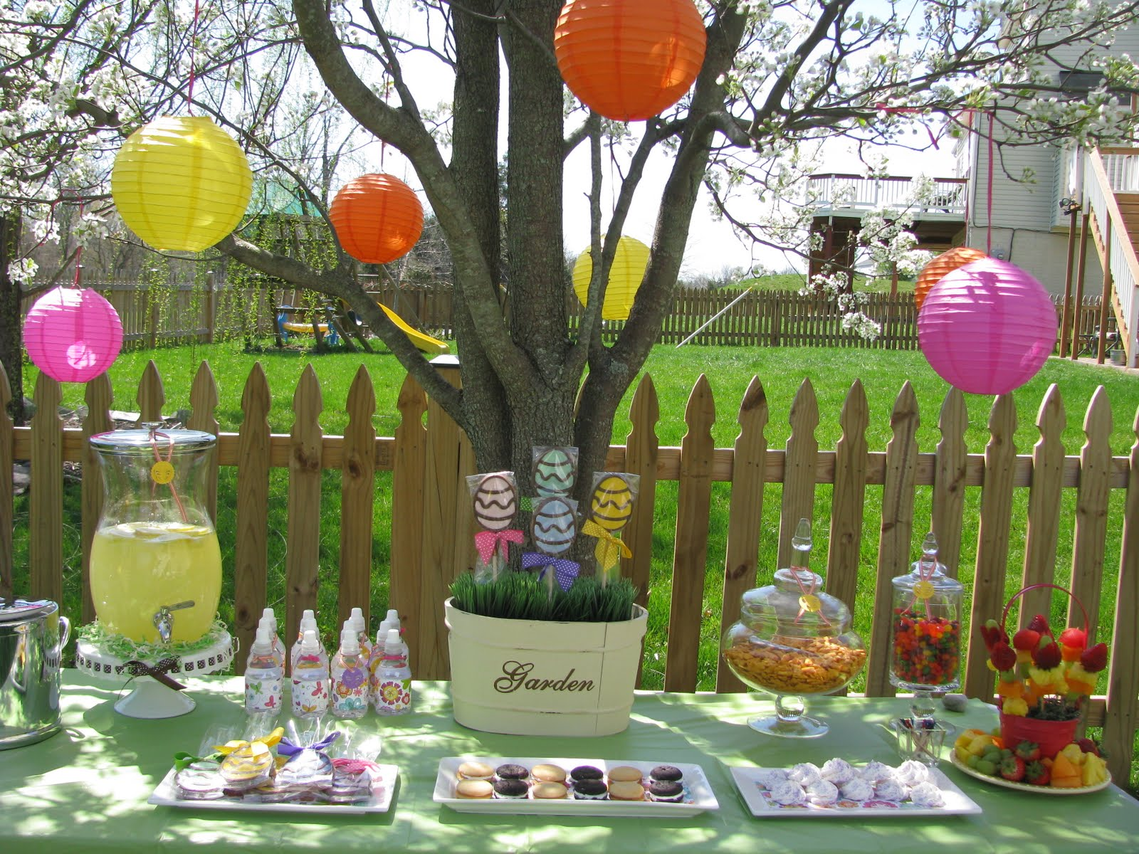 P is for party real parties an easter egg hunt for Spring yard decorations