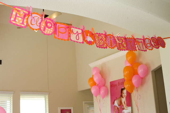 P Is For Party Real Parties A Pink Amp Orange Celebration