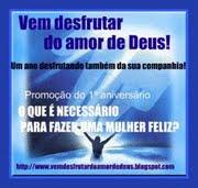 Selo comemorativo Vem desfrutar do amor de Deus.