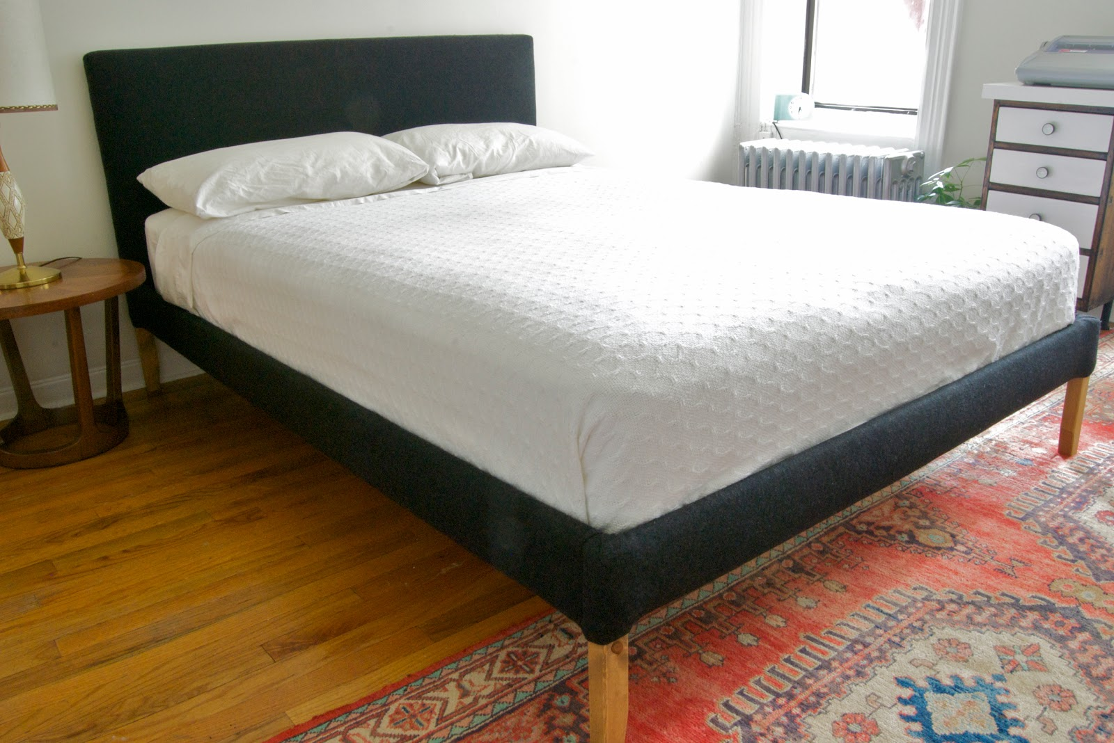 diy upholstered bedframe