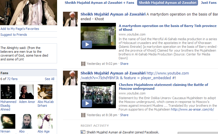 osama in laden facebook page. Osama in Laden Facebook page.