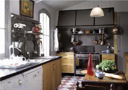 Кухня в традиционном стиле, кухня в деревенском стиле, французская кухня