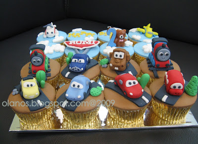 Cerita dari Dapur Amatir: CARS, Thomas and Friends Cupcake Set for