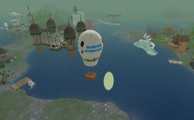 float through the air