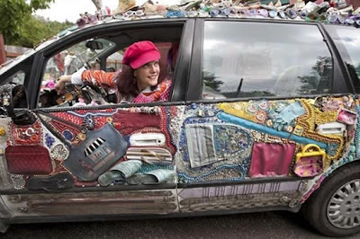 A Fashion Themed Art Car Seen On www.coolpicturegallery.us