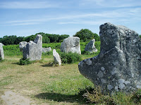 Prehistoric standing stones, Brittany (pic.: Barry Kellington)